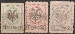 Albania 1913 Usato - Yv.20; 21; 24 - Albania