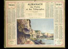 Calendrier 1930 Dordogne, Les Eyzies , Au Dos Renseignements Foires Et Communes Du Tarn - Calendriers