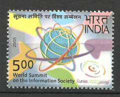 INDIA, 2005, UN  World Summit On The Information Society , 2nd Phase At Tunis, MNH, (**) - Nuovi