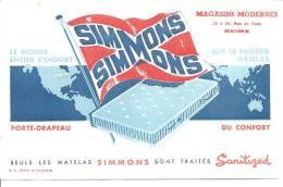 BUVARD: Matelas Simmons, Magasins Modernes Rue De Vesle Reims Marne - Carte Assorbenti