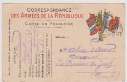 Carte  Postale En  Franchise Militaire- Cachet Trésor Et Postes - Marcofilie (Brieven)