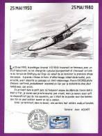 DOCUMENT PHILATELIQUE - 59 - BERGUES - AVIATION - HOMMAGE A PIERRE DECROO / PILOTE D ESSAI / MAI 1980 - Sonstige