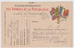 Carte  Postale En  Franchise Militaire- Cachet Trésor Et Postes - Storia Postale