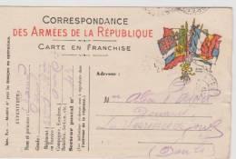 Carte  Postale En  Franchise Militaire- Cachet Tésor Et Postes Secteur 43 - Marcofilie (Brieven)