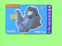 RWANDA - Chip Phonecard/Gorilla
