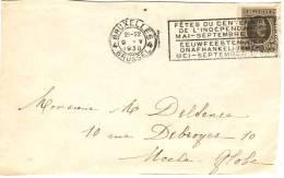 Flamme Du Centenaire De L'Indépendance Eeuwfeest Der Onafhankelijkheid Du 9/5/1930 Sur Timbre 255 - Postmark Collection
