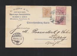 KuK PK 1905 Krakau Nach Leipzig - Briefe U. Dokumente