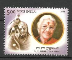 INDIA, 2005, M S Subbulakshmi, (Carnatic Singer),   MNH, (**) - Musica