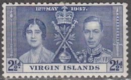 British Virgin Islands 1937 Michel 71 Neuf * Cote (2004) 0.60 Euro Roi George VI Et Reine Elisabeth - Iles Vièrges Britanniques