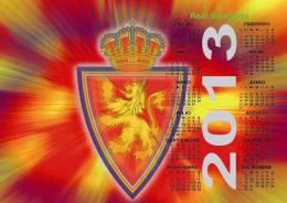 Real Zaragoza Poster Affiche Calendar 2013 - Grand Format (45x32 Cm.) - Calendarios