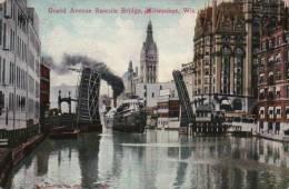 ETATS UNIS/ MISCONSIN/ GRANDE AVENUE BASCULE BRIDGE MILWAUKEE/ RARE !/ Référence 2346 - Milwaukee