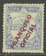 NICARAGUA U.P.U. 1890 Dienstmarke Duty Tax Michel 4 (*) - Nicaragua