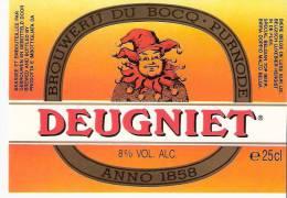 Etiquette Ancienne De La Brasserie Du Bocq à Purnode (Yvoir S/Meuse)-Bière Deugniet -Top Quality - Beer