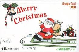 Carte Prepayee JAPON * NOËL (1604) MERRY CHRISTMAS  Prepaid Card Japan * Karte WEIHNACHTEN * KERST NAVIDAD * NATALE - Weihnachten