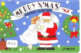 Carte Prepayee JAPON * NOËL (1607) MERRY CHRISTMAS  Prepaid Card Japan * Karte WEIHNACHTEN * KERST NAVIDAD * NATALE - Weihnachten