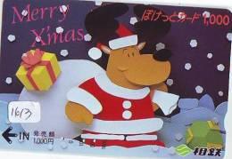 Carte Prepayee JAPON * NOËL (1613) MERRY CHRISTMAS  Prepaid Card Japan * Karte WEIHNACHTEN * KERST NAVIDAD * NATALE - Kerstmis