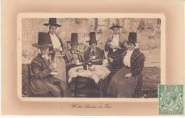 Welsh Ladies At Tea (1914 - Timbre Half Penny Non Oblitéré) - Pays De Galles