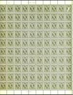 Deutschland Alliierte Besetzung Bizone Mi.N° 11 ** Englischer Druck Als Kompletten 100ter Bogen Mit Allen Rändern, - Bizone