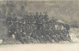 CARTE PHOTO : ARMEE SUISSE REGIMENT A WALLENSTADT SECTION MILITAIRE GUERRE - Régiments