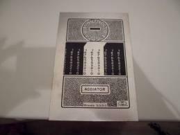 Plaque  En Metal ADDIATOR SOUSTRACTION DIVISION  BREVETE S G D G - Plaques En Tôle (après 1960)