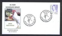 6.- ITALY ITALIA 2012. SPECIAL POSTMARK.  GALLUS GALLUS.  CHICKEN GALLOS GALLINAS.  COQ POULE - Gallinacées & Faisans