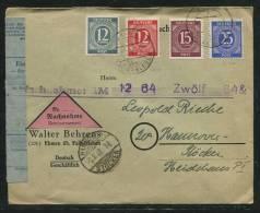 All.Besetzung / 1948 / Nachnahmebrief Ex Ehmen - Gemeinschaftsausgaben