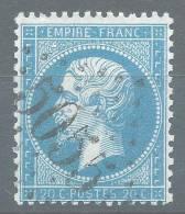Lot N°20581  Variété/n°22, Oblit GC 5055 PHILIPPEVILLE(Constantine), Tache Blanche Embriquement NORD OUEST, 0 De 20C - 1862 Napoléon III
