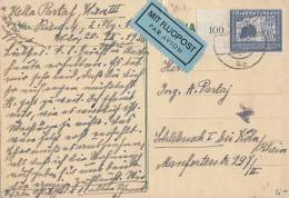 DR Karte Luftpost EF Minr.669 Wien 20.9.38 - Allemagne
