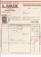 CROATIA   -  RECHNUNG  -  L. ADLER  -  OSIJEK  -  JEWISH STORE   --  WITH TAX STAMP - Facturen & Commerciële Documenten