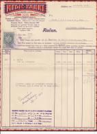 SLOVENIJA   - LJUBLJANA  -   RECHNUNG    --  WITH TAX STAMP - Facturen & Commerciële Documenten