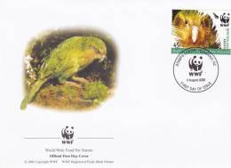 WWF - 368,22 - FDC - € 1,04 - 3-8-2005 - 45c - Kakapo - New Zealand - W.W.F.