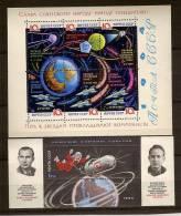 Russie Russia Rusland 1964-1965 Yvertn° Bloc  35a Papier Laqué  Et  37 *** MNH Cote 40 Euro L' Espace - Blocs & Feuillets
