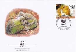 WWF - 368,24 - FDC - € 1,13 - 3-8-2005 - 45c - Kakapo - New Zealand - W.W.F.