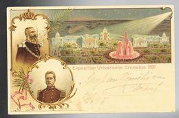 Carte Illustrée 1 Exposition Universelle De Bruxelles 1897 Oblitérée Bruxelles Départ à Destination De Vienne - Ganzsachen