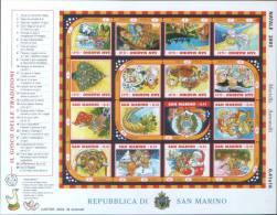 """San Marino 2003 Foglietto Natale 2003 """"Il Gioco Dell'oca """" ** MNH - Unused Stamps"""