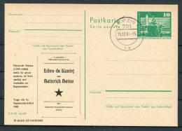 1981 DDR East Germany Leipzig Esperanto Stationery Card - Esperanto