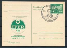 1982 DDR East Germany Leipzig Esperanto Stationery Card - Esperanto