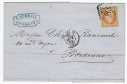 1165. France, 1863, Letter - 1863-1870 Napoléon III Lauré