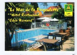 Carte De Visite , 4 Volets , Hôtel-Restaurant , CHEZ BERNARD , 83 , SANARY , 2 Scans - Cartes De Visite