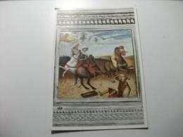 Horse Cavallo Belle Arti Pittura Giovanni Bellini  Particolare  Della Pala Di Pesaro  La Conversazione Di San Paolo - Pferde