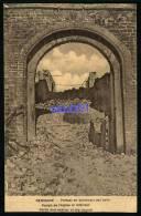Lot De 2 CPA -Reninghe - Reninge -Guerre 1914-1918 - Ruines - Portail De L'Eglise  Et Intérieur - Kerk - Réf : 27740-42 - Lo-Reninge