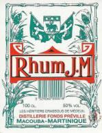 27 - Etiquette - RHUM JM - Martinique Macouba - Rhum