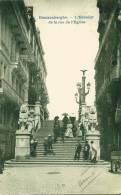 Blankenberghe : L´Escalier De La Rue De L´Eglise - Animée - Précurseur  !!! - Blankenberge