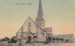 21396 Merlevenez - église Coll Le Dantec Epicier - Colorisée Toilée