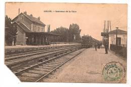 ABLON - Intérieur De La Gare - Animée - Train - En L'état - Coin Coupé - - Ablon Sur Seine