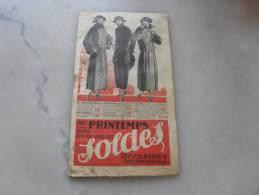 Catalogue De Mode  Bazar  Au Printemps  Soldes 1922 1923 - Mode