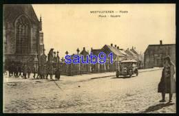 Vleteren  - Westvleteren -  Platz - Place  -  Guerre 1914-1918  - Animée -  Automobile Renault Ou Bayard ? - Réf :27770 - Vleteren