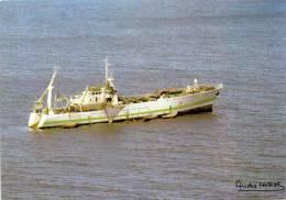 Carte Circulée ( Navire L'Austral De La S.A.P.M.E.R.) En Pêche à La N/AMSTERDAM.( Cachets Et Signature) - TAAF : Terres Australes Antarctiques Françaises