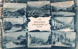 Cpa Un Bonjour D'AIGUEBELLE, Savoie, Multivues (14.73) - Saluti Da.../ Gruss Aus...