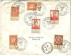 Curieux Affr. Avec Timbres 108, 109 Et 111 Du 22/3/1913 Sur Fragment + Cachet CASTRIES C ST LUCIA APRIL 1913 (Antilles)